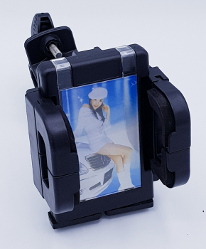 360 graden motor/fiets mobiele telefoon houder met fotolijstje - zwart -extra breed