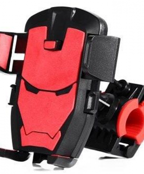 Fiets stuurhouder mobiele telefoon houder standaard beugel - rood/zwart