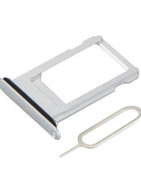 Voor iPhone X simkaarthouder + ejectpin - zilver
