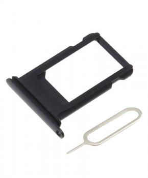 Voor iPhone X simkaarthouder + ejectpin - Zwart