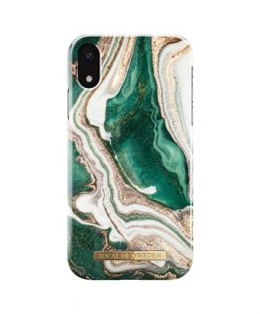 iDeal Fashion Case Golden Jade Marble iPhone XR