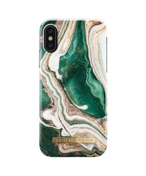 iDeal Fashion Case Golden Jade Marble iPhone XS/X