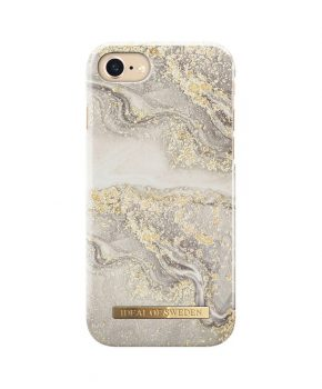 iDeal Fashion Case Sparkle Greige Marble iPhone 8/7/6S