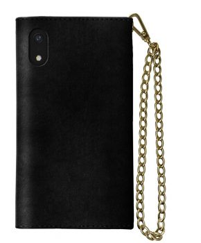 iDeal Mayfair Clutch Velvet Black iPhone XR
