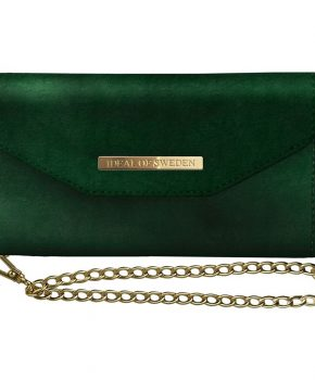 iDeal Mayfair Clutch Velvet Green iPhone XR