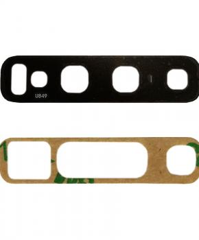 Voor Samsung Note 10/ 10 Plus achtercamera lens glaasje - zwart