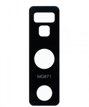 Voor Samsung Note 9 achtercamera lens glaasje - zwart