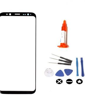 Voor Samsung Galaxy S9 vervangglas + loca lijm - zwart