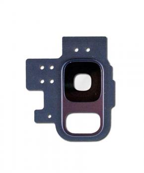 Voor Samsung Galaxy S9 camera ring cover met lens – Blauw