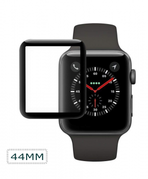 Apple iWatch Screen Protector 44mm - full cover - zwart