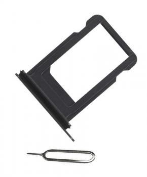 Voor iPhone XR simkaarthouder + ejectpin - zwart