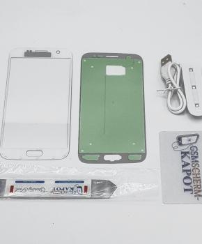 Voor Samsung Galaxy S6 glas reparatie set - wit