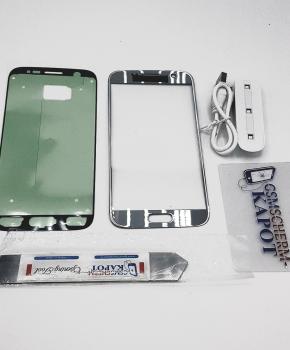 Voor Samsung Galaxy S7 glas reparatie set - zilver