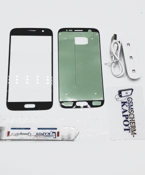 Voor Samsung Galaxy S5 glas reparatie set - zwart