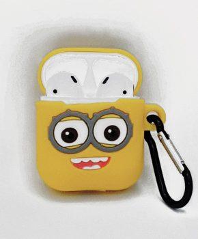 Cartoon Silicone Case voor Apple Airpods - see me smile - met karabijn