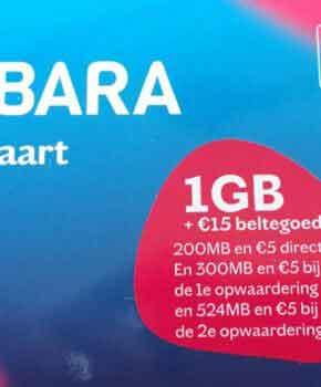 Prepaid simkaart Lebara - 15 euro beltegoed
