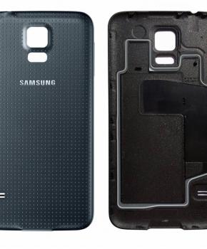 Voor Samsung Galaxy S5 Accudeksel  - zwart -originele kwaliteit