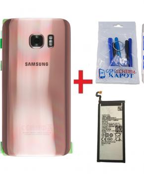 Voor Samsung Galaxy S7  achterkant + batterij - rose goud