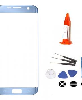 Voor Samsung Galaxy S7 Edge voorglas reparatieset - blauw