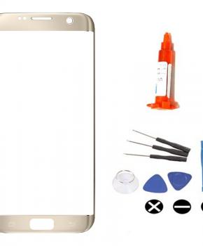 Voor Samsung Galaxy S7 Edge voorglas reparatieset - goud