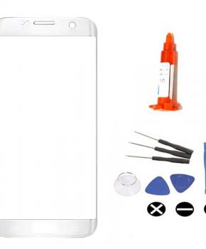 Voor Samsung Galaxy S7 Edge voorglas reparatieset - zilver