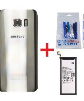 Voor Samsung Galaxy S7 Edge achterkant + batterij - zilver