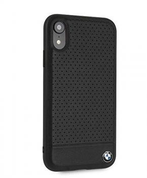 BMW BMHCI61PEBOBK lederen hard case voor de iPhone Xr - zwart