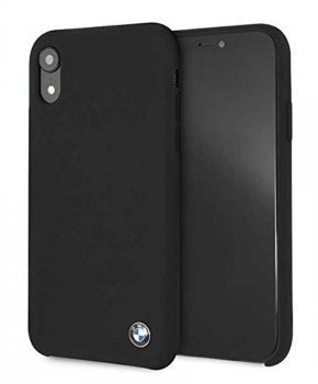 BMW BMHCI61SILBK origineel Microfiber siliconen case voor iPhone Xr - zwart