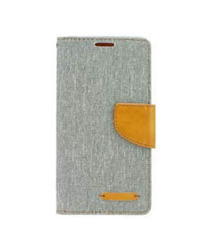 Canvas Book case - voor de Huawei P Smart - grijs