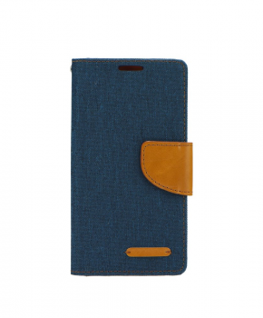 Canvas Book case - voor de Huawei Mate 10 Lite - Navy Blue