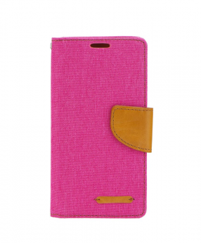 Canvas Book case - voor de Samsung Galaxy A40 - roze