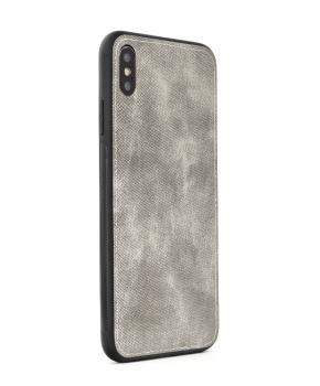 FORCELL Denim case voor Samsung A40 - grijs