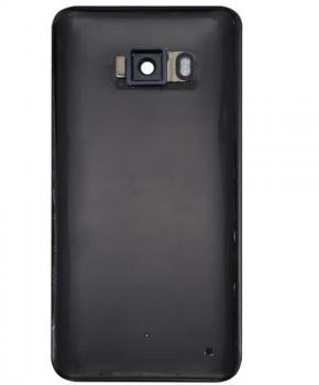 Achterkant - batterijcover met lens voor de HTC U11 - zwart
