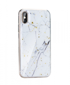 Forcell MARBLE Case voor iPhone X/ Xs - white marble