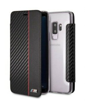 BMW M Sport Book Case voor Samsung Galaxy S9 Plus  - zwart