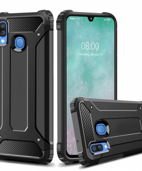 Forcell ARMOR Case voor Samsung Galaxy A40 - zwart