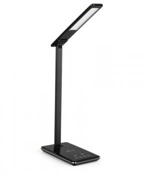 LED-bureaulamp met draadloos snel opladen - zwart