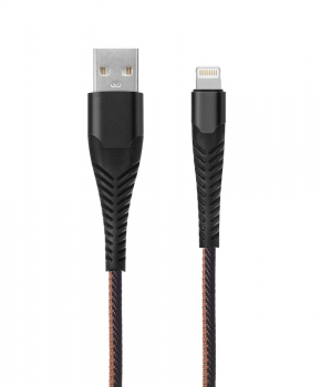 Heavy Duty USB laadkabel 8-pins - 3 meter zwart