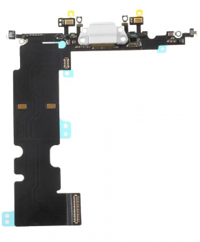 Voor Apple iPhone 8 Plus dock-connector flexkabel - wit