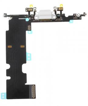 Voor Apple iPhone 8 Plus dock-connector flexkabel - wit