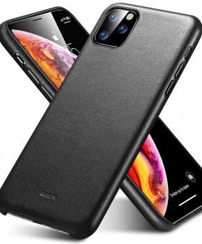 ESR Metro Premium echt lederen case voor  iPhone 11 - zwart