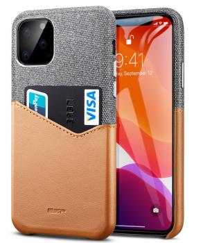 ESR Metro wallet case voor iPhone 11 PRO ( 5.8 ) - grijs/bruin