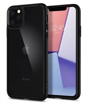 SPIGEN Ultra Hybrid voor Iphone 11 PRO ( 5.8 ) matzwart