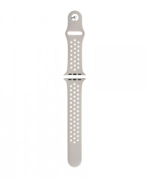 Sport strap compatible met Apple Watch 42/44mm / B010 - licht-grijs