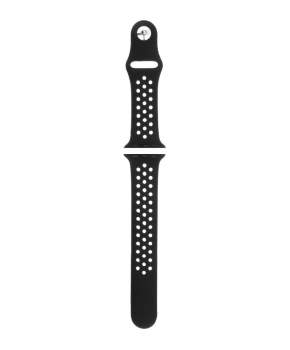 Sport strap compatible met Apple Watch 42/44mm /B016 - zwart