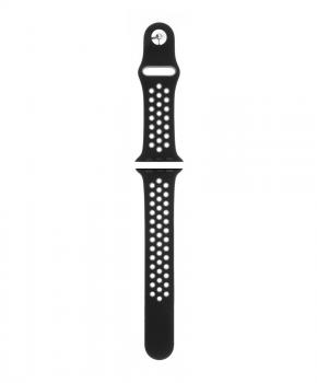 Sport strap compatible met Apple Watch 38/40mm / C001 - zwart - grijs