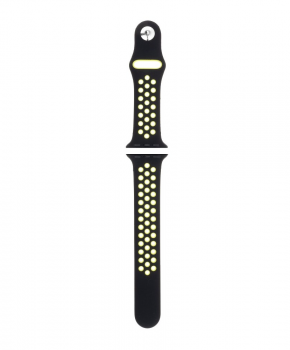 Sport strap compatible met Apple Watch 42/44mm / C002/ zwart - lime