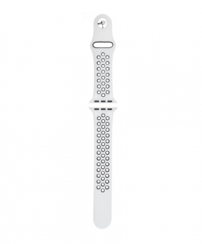 Sport strap compatible met Apple Watch 38/40mm / C019 / wit - zwart
