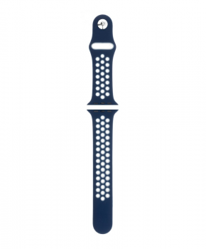 Sport strap compatible met Apple Watch 38/40mm /C020 / navy - wit