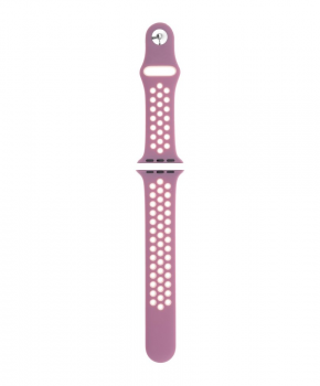 Sport strap compatible met Apple Watch 42/44mm / C024 / roze - wit